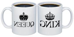 King - Queen Valentines Day Gifts for Couples Coffee Mugs MC