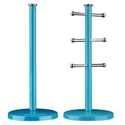 Premier Housewares Kitchen Roll Holder and Mug Tree, Blue Me