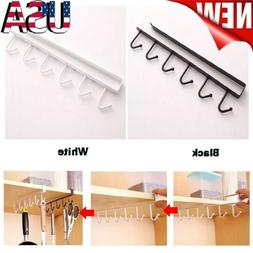kitchen storage rack cupboard hanging hook hanger