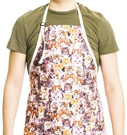 Funny Guy Mugs Kittens Adjustable Apron with Pockets - Funny