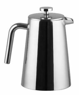 Bruntmor, KRAGLER 8 Cup  Double Wall 18/8 Steel French Press