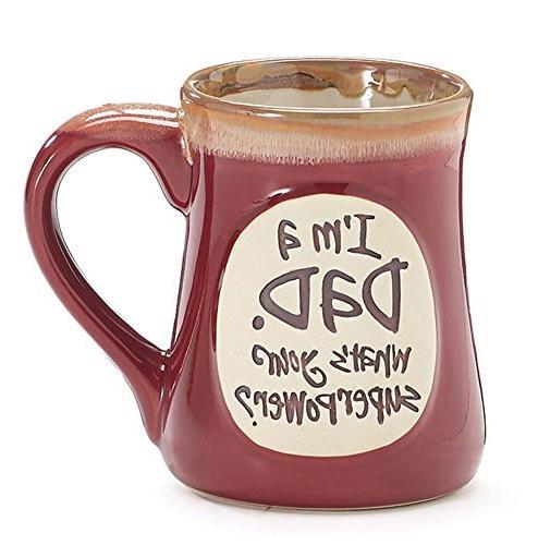 1 X I'm a Dad Superpower Burgundy 18 Oz Mug