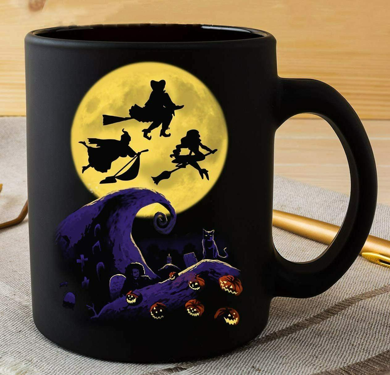 11 OZ Black Coffee Mug Nightmare Halloween Hocus Pocus