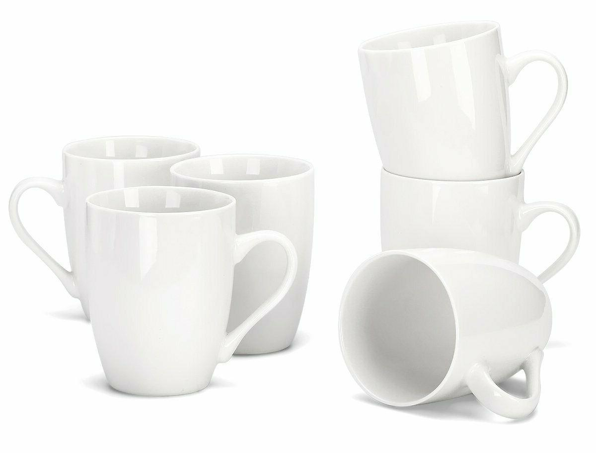 12 ounce porcelain mugs set of 6