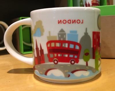 14oz Starbucks LONDON You Are Here Coffee Mug Cup YAH Collec