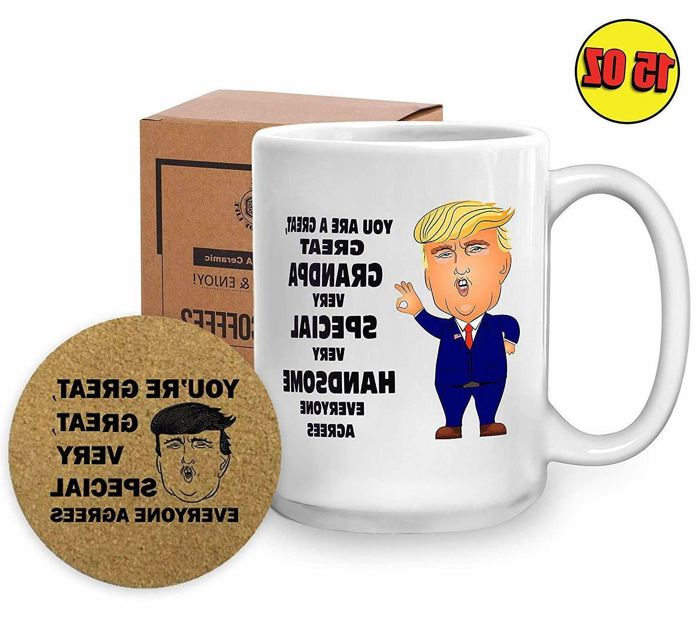 15 Oz Trump Dad Mug - Funny Novelty Coffee Cup - President D
