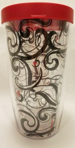 Tervis 16 oz. Red black paisley art Tumbler With oz. Travel mug