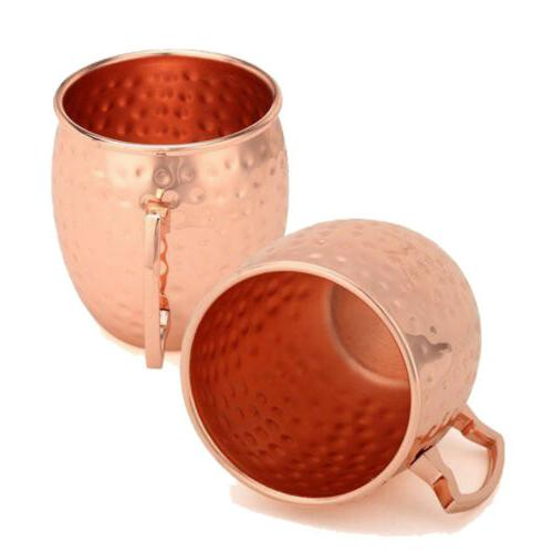 16 Oz Handmade Hammered 100% Pure Copper Moscow Mule Mugs Dr
