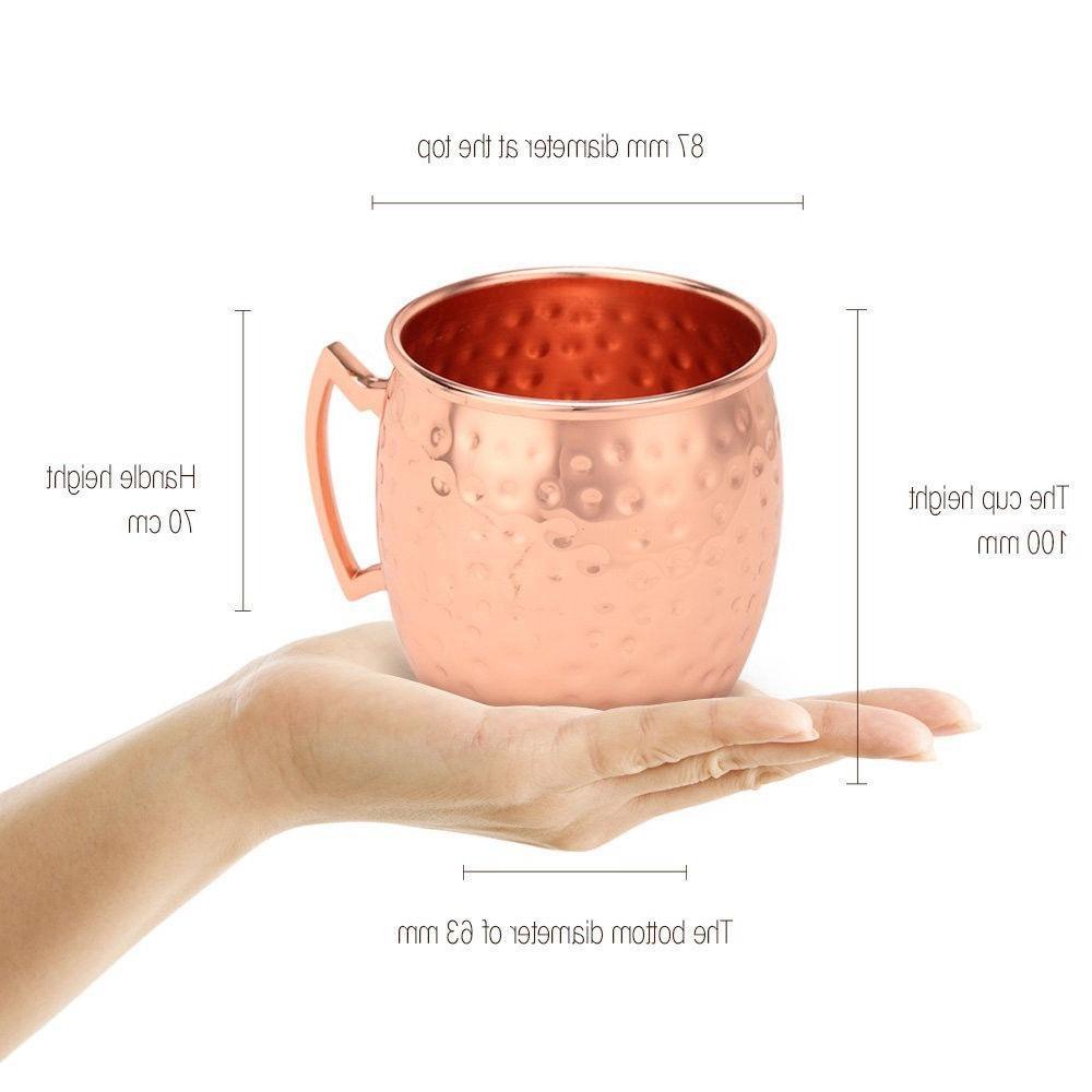 2 Hammered Mug 100% Pure Solid