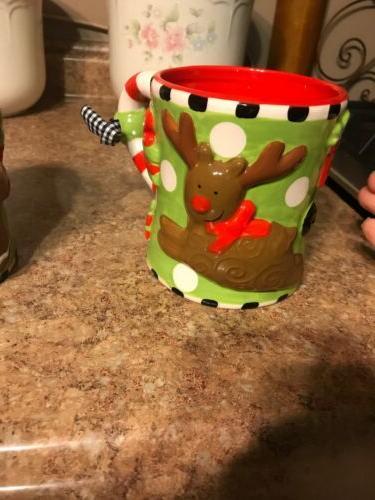 2 Mud Pie Christmas Mugs
