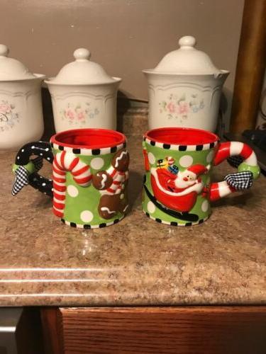 2 holiday christmas mugs