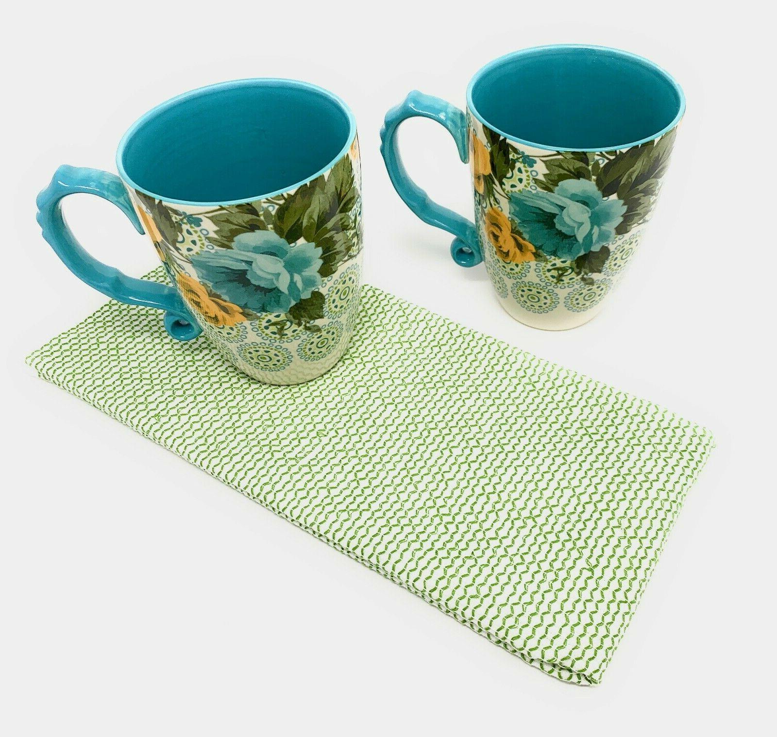 2 Latte Coffee Coordinating Kitchen Towel