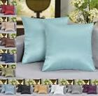 """18"""" x 18"""" Solid Faux Silk Decorative Pillow / Cushion COVER"""