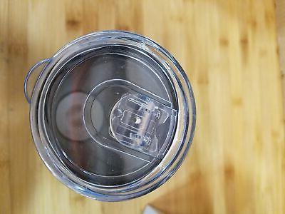 2 20 oz Skinny Tumbler Vacuum Travel Mug Blue sliding