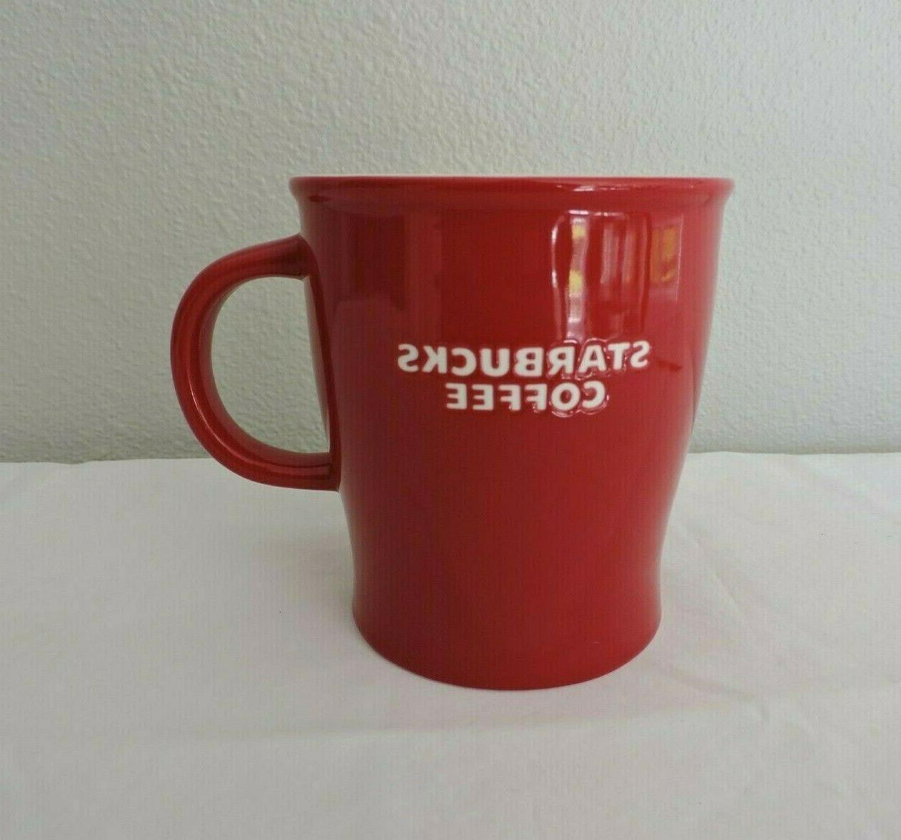 Starbucks 2008 Red Coffee Tea White Embossed New