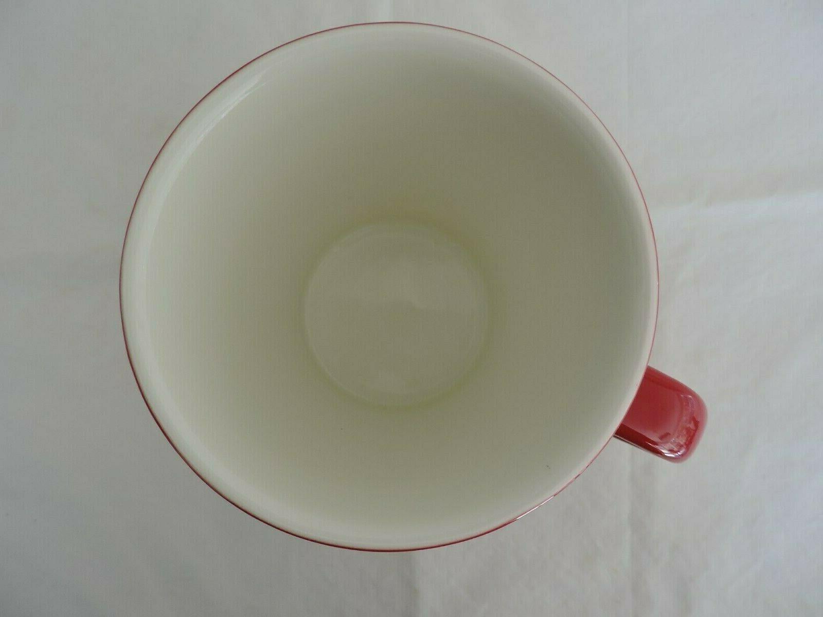 Starbucks Red Ceramic Coffee Tea Mug Cup White New