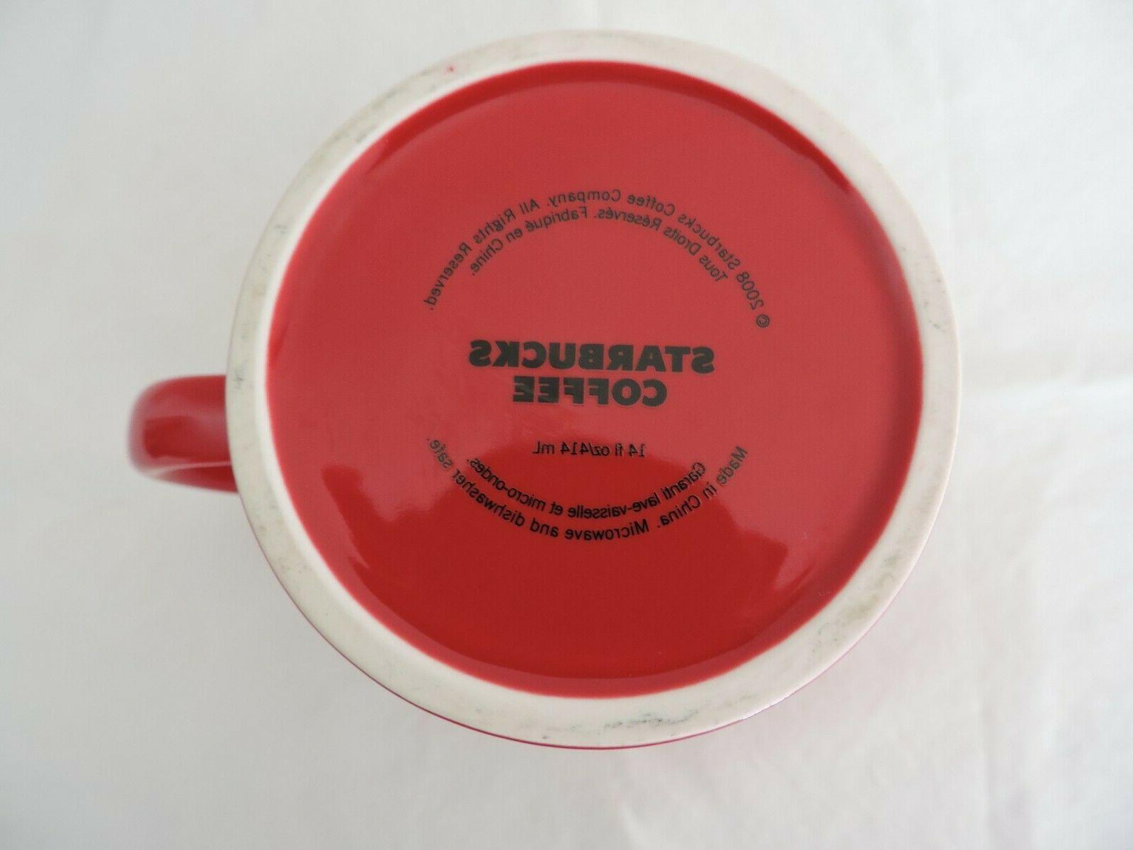 Starbucks 2008 Red Coffee Tea Mug New