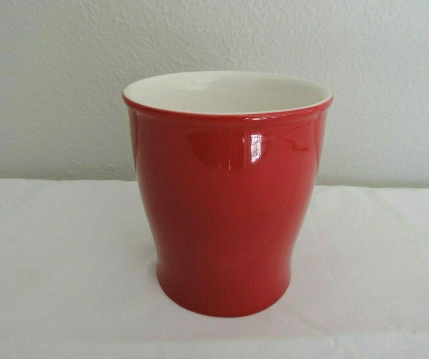 Starbucks Red Coffee Tea White Embossed New