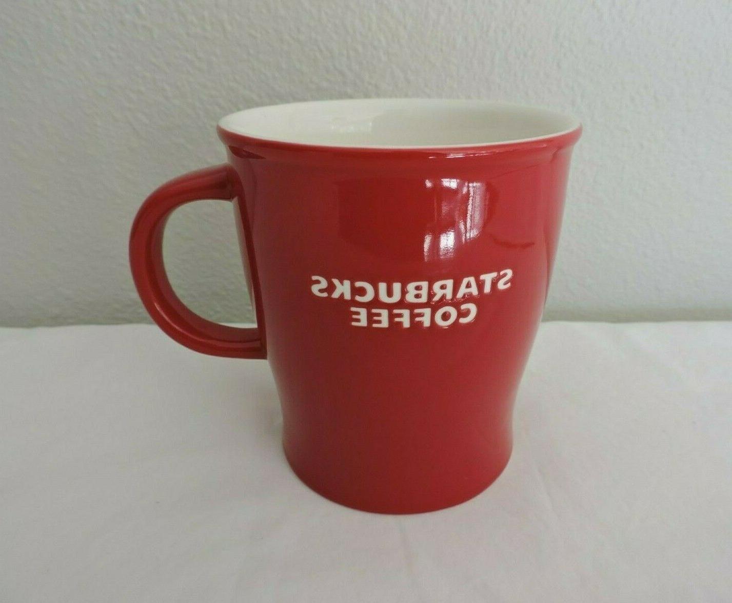 2008 red ceramic coffee tea mug cup