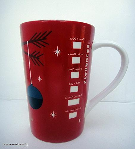 Starbucks 2012 Holiday Cup Mug Bird 12 fl ozl Coffee Tea Mug