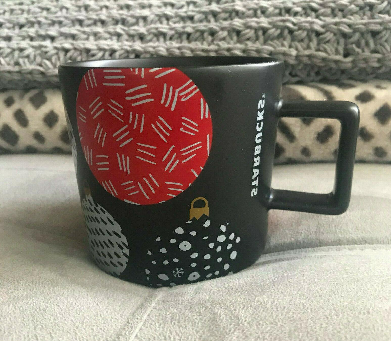 2016 black holiday ornaments ceramic coffee mug