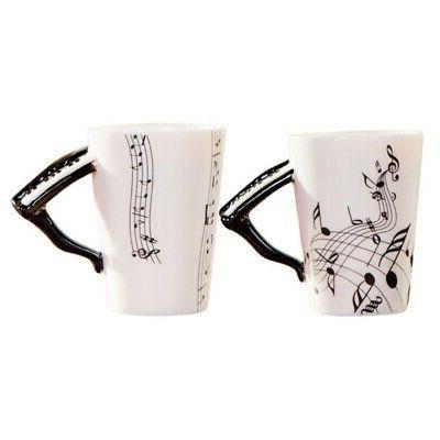 2019 Note Pattern Coffee Mug Porcelain Ceramic