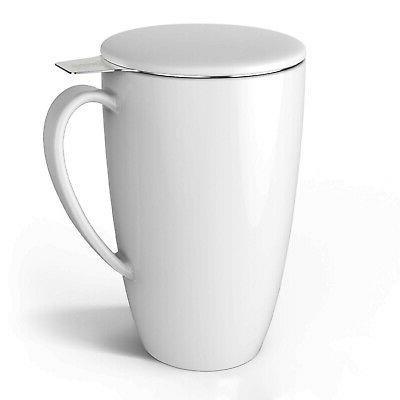 2105 porcelain tea mug with infuser