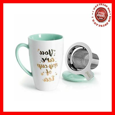 Sweese 2111 Porcelain Tea Mug with Infuser and Lid - You Are
