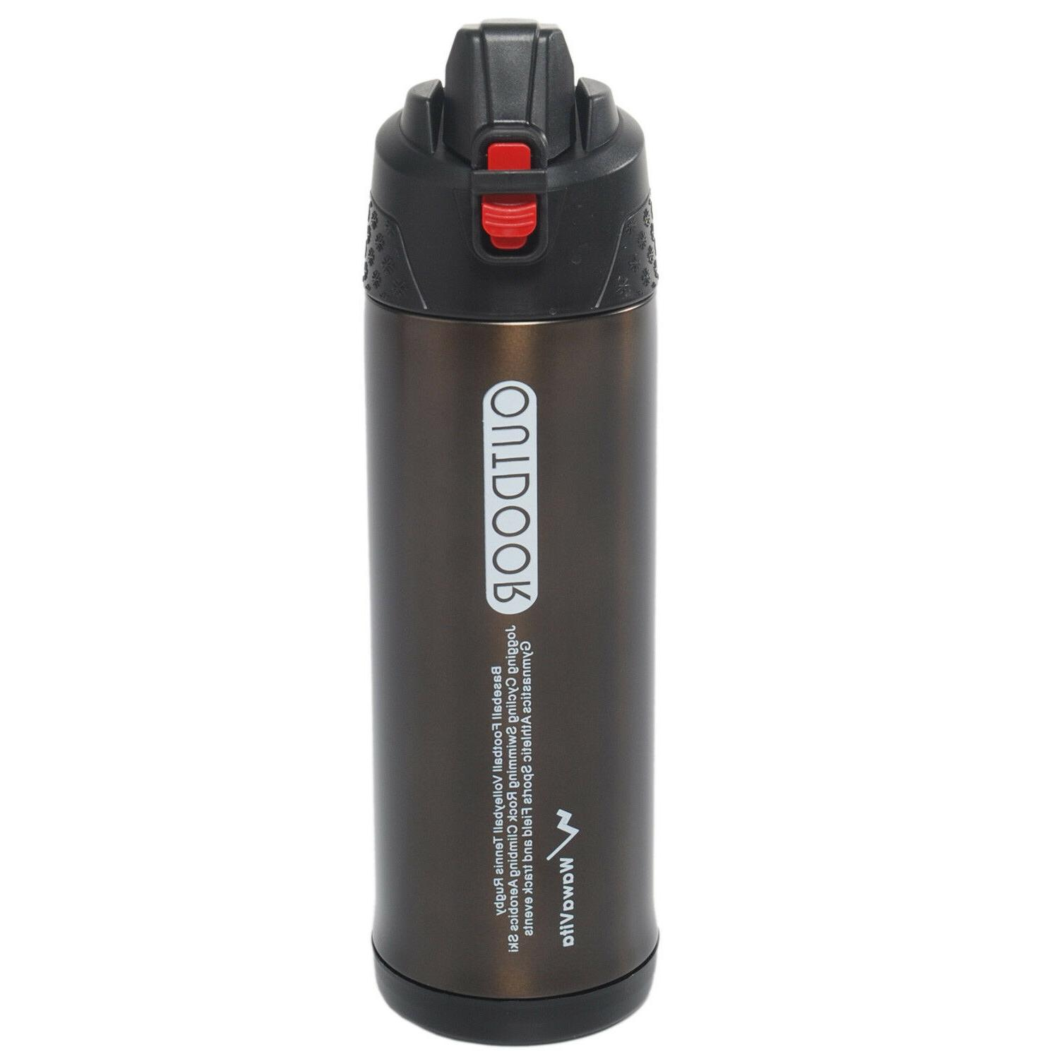 25 oz/750ml Thermos Double Walled Vacuum Flask Stainless Ste