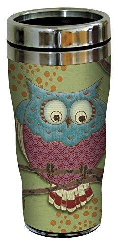 Tree-Free Greetings 25512 Paul Brent Whimsical Owl Sip 'N Go