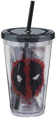 Vandor 26115 Marvel Deadpool 18 Ounce Acrylic Travel Cup, Re