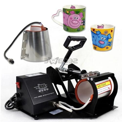 2in1 Coffee Latte Mug Heat Printer Sublimation