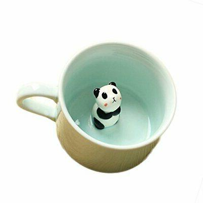 300ml 3d animal cup morning coffee mugs