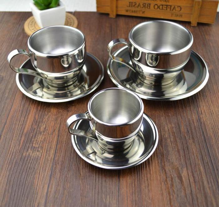 304 steel double flower cup <font><b>espresso</b></font> <font><b>mug</b></font> <font><b>coffee</b></font>