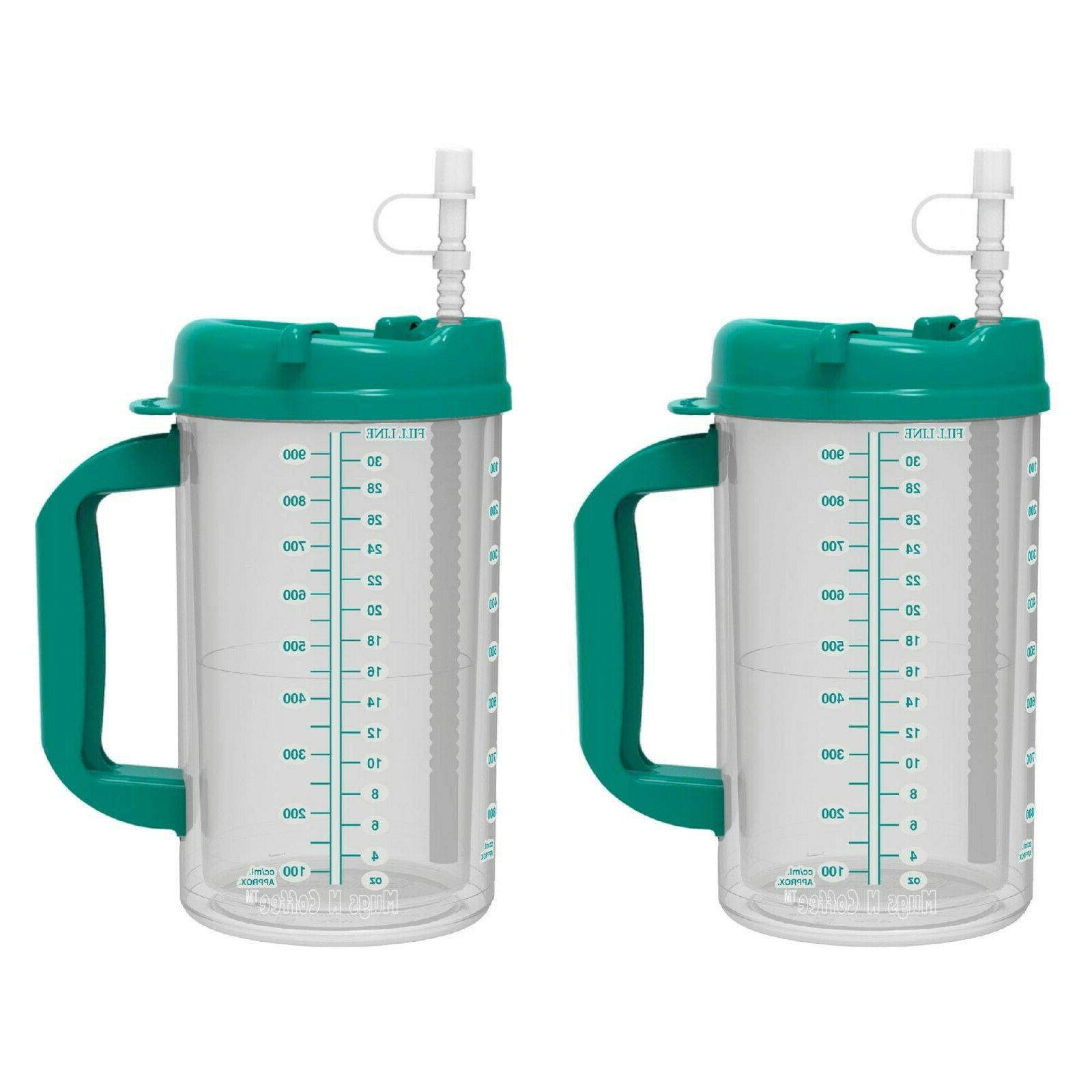 32 oz Double Wall Insulated Hospital Cold Mug Straw - BPA