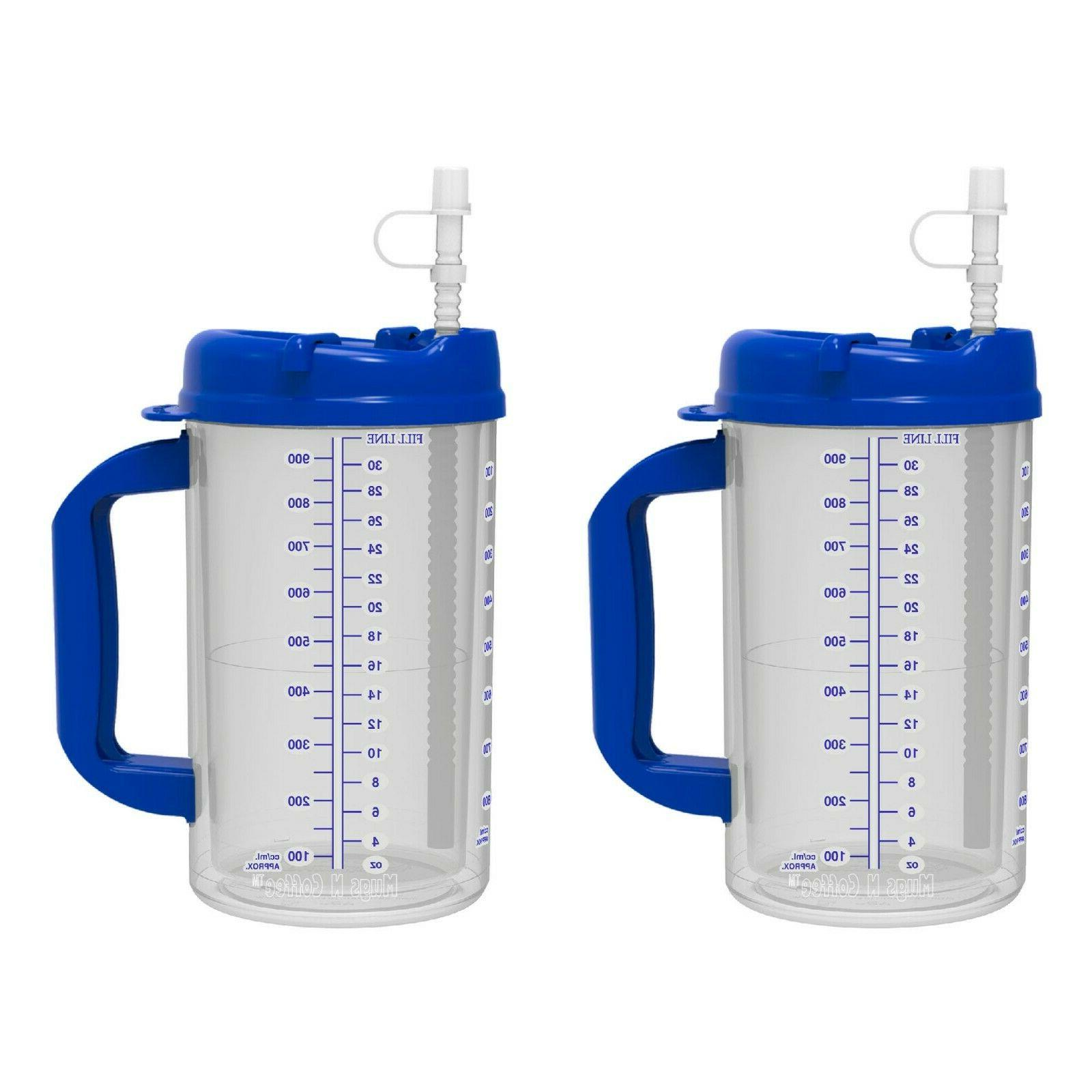32 oz Double Insulated Hospital - Cold Drink Straw -