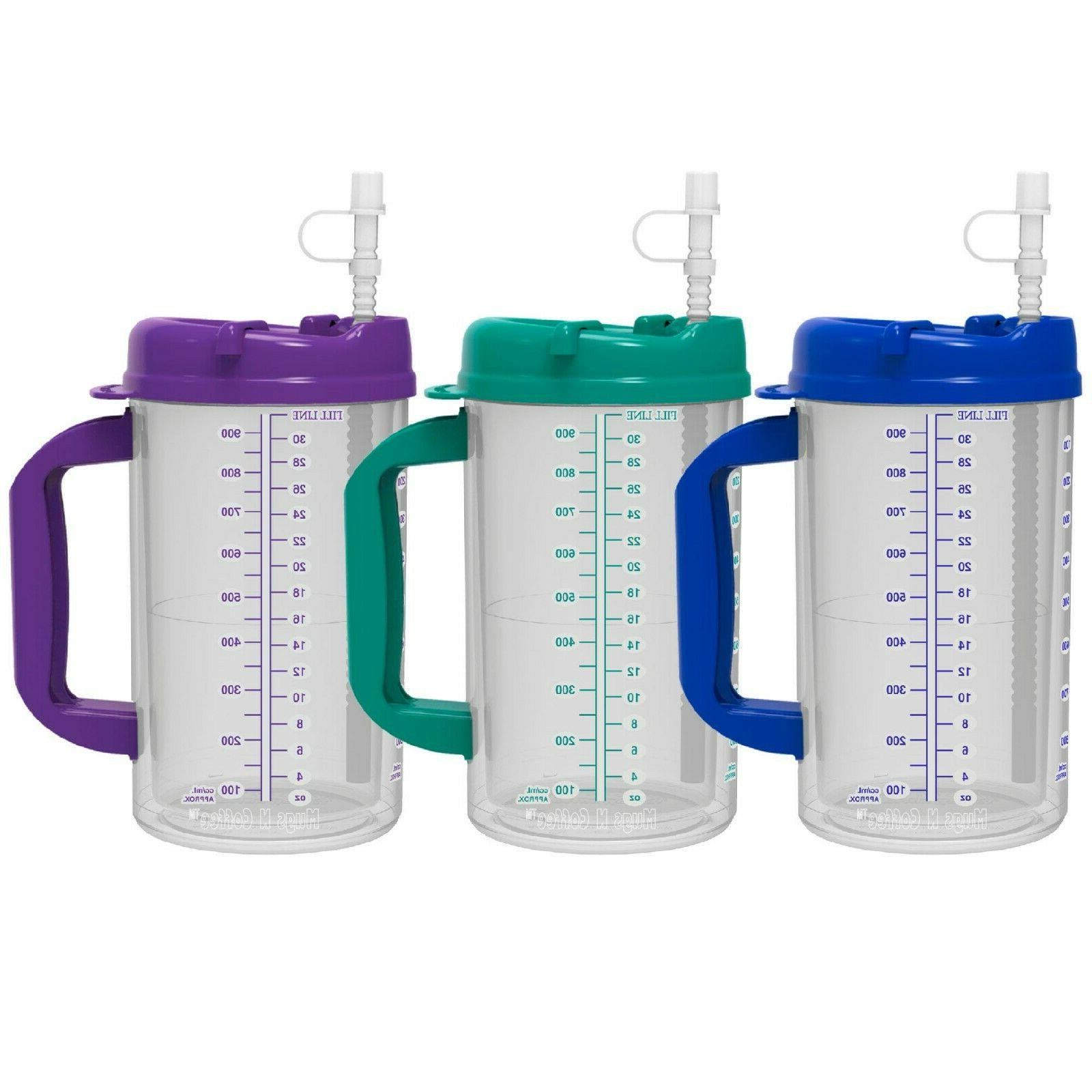 32 oz double wall insulated hospital mugs