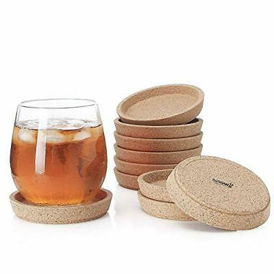 Sweese 3405 Cork Coasters - 4 Inches Perfect for Most Kind o