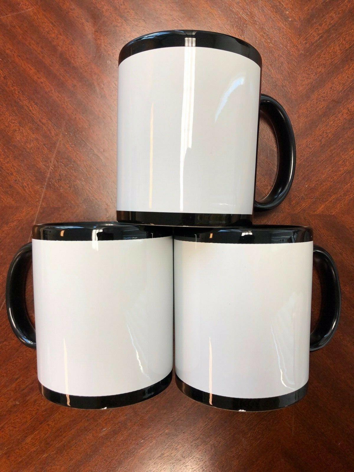 36 Pieces Black White Ceramic Oz - BLANK Mug /
