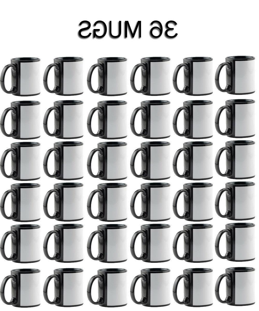 36 pieces black and white ceramic mug