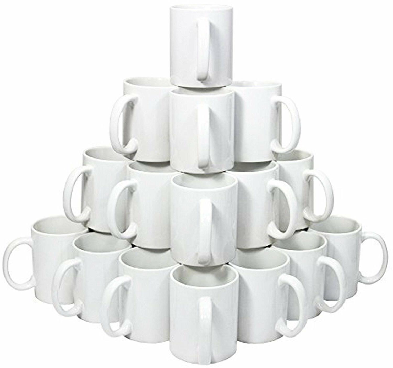 36-Pieces White Sublimation 11 Box