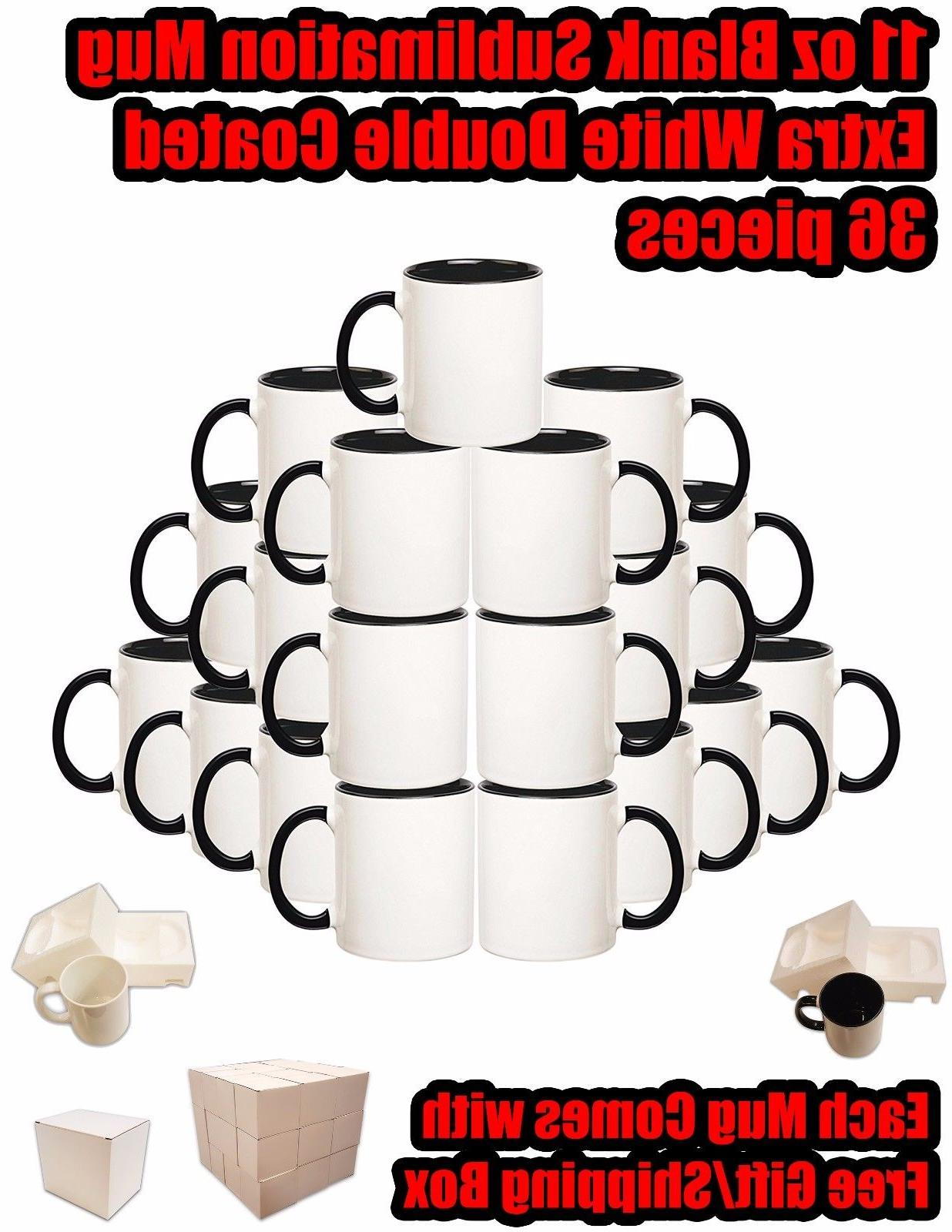 36 pieces extra blank sublimation coated ceramic