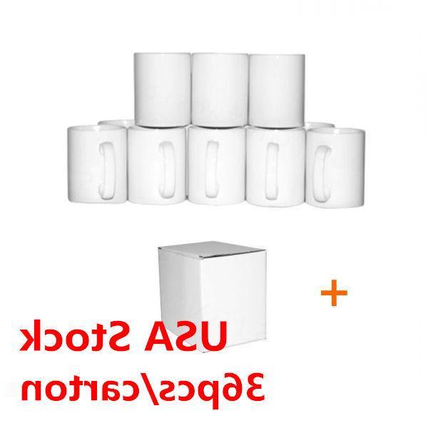 36PCS* Blank White Mugs AAA Grade 11OZ Sublimation Coated Mu