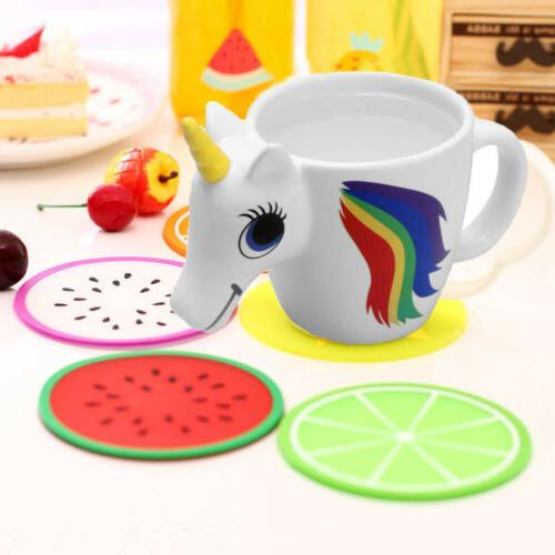 3D Heat Unicorn Color Mug Coffee Cup