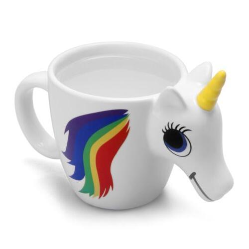 3D Heat Unicorn Ceramic Color Mug Coffee Tea Cup