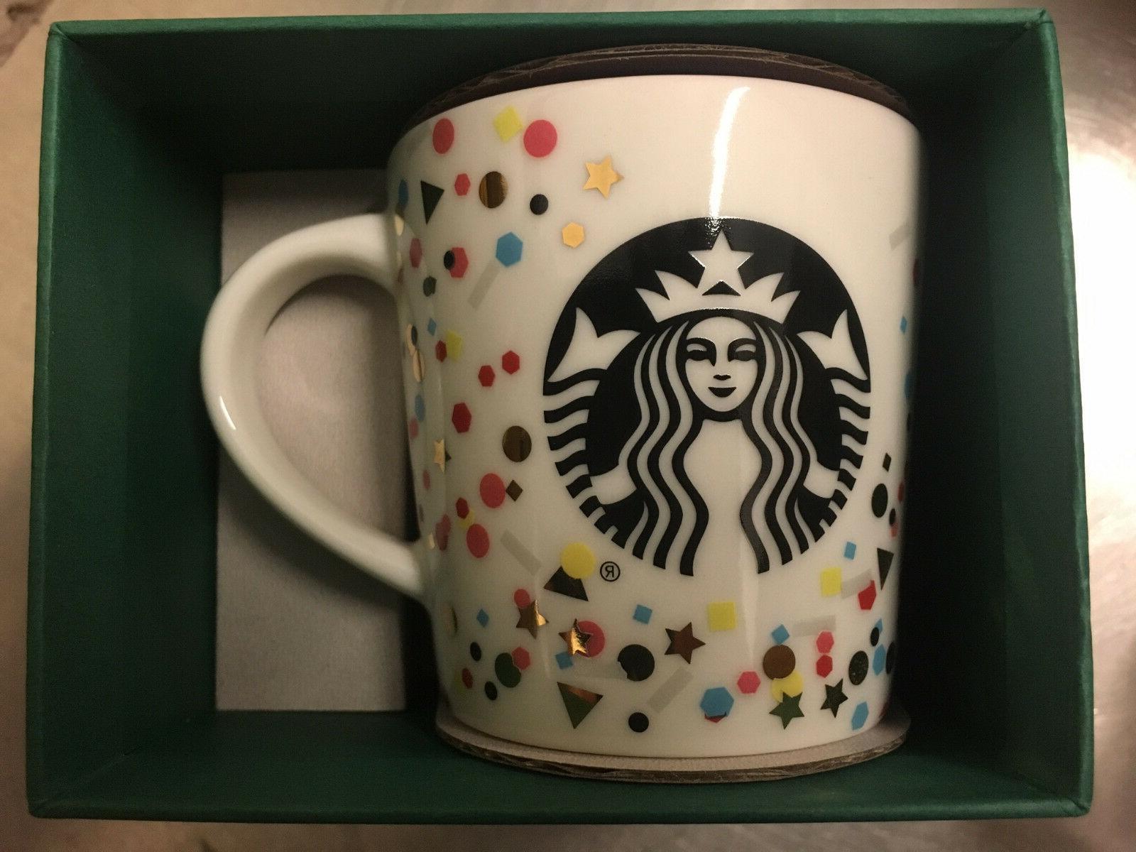 3oz Starbucks Demi Cup Confetti collectors mug limited editi