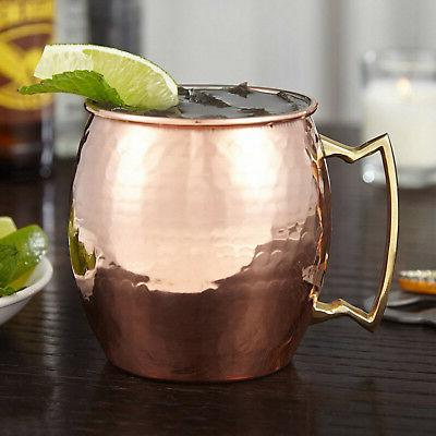 4 Hammered Moscow Mule Mug 100% Pure Solid Copper Oz