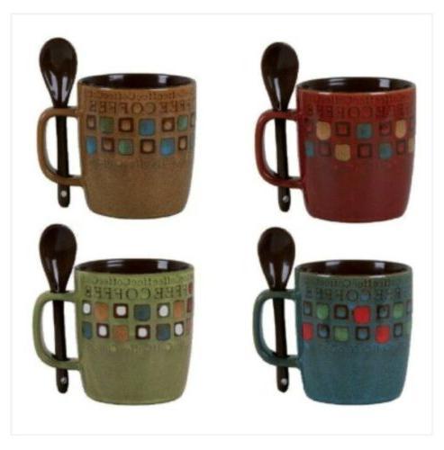 4 pack Gibson Mr. Coffee Cafe Americano Stoneware 13 Oz. Mug