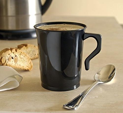 40 8 Plastic Coffee Teacup Coffee Reusable Coffee Cups Mugs Mugs White Tea