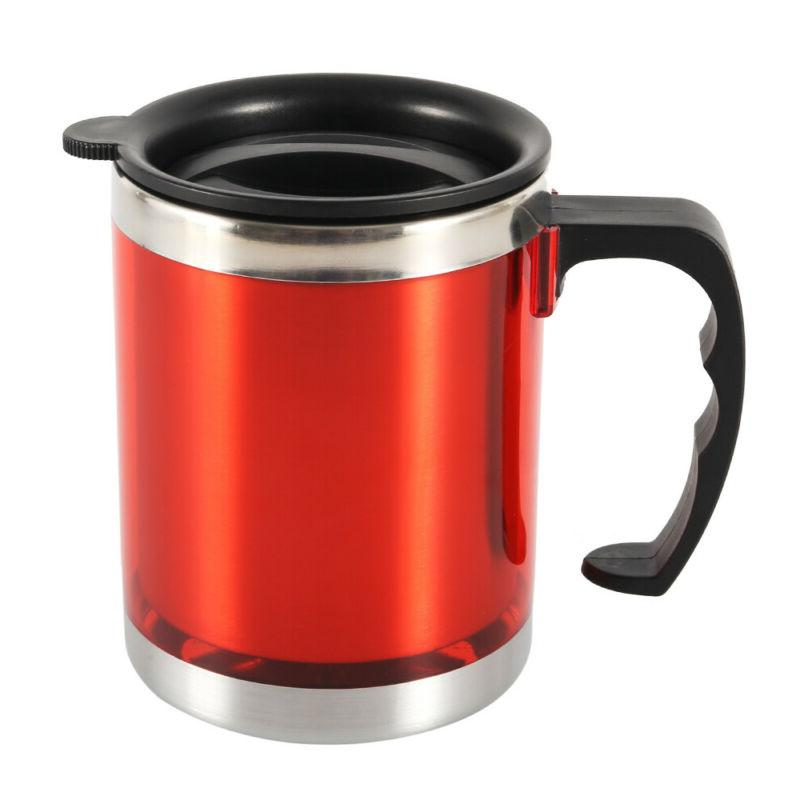 450ml Insulated Coffee Mugs With Lid Steel Cup
